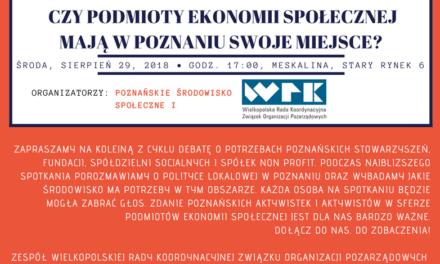 Debata podmiotów ekonomii społecznej o ich miejscu w Poznaniu