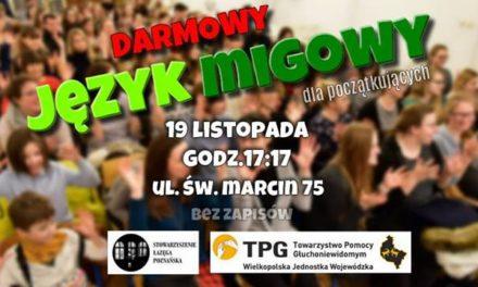 Darmowe warsztaty z podstaw języka migowego u Łazęgi Poznańskiej