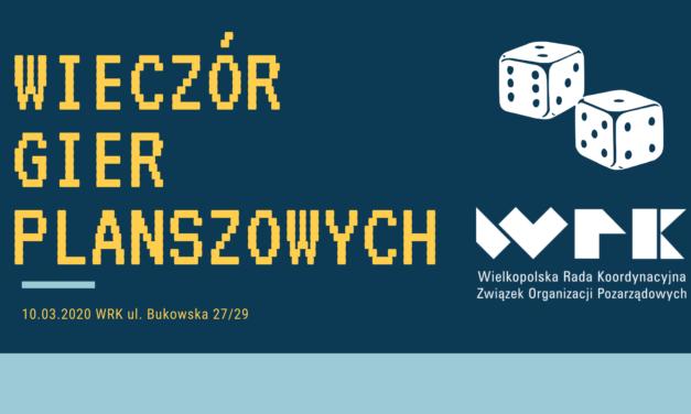 10.03.2020 Wieczór gier planszowych w WRK